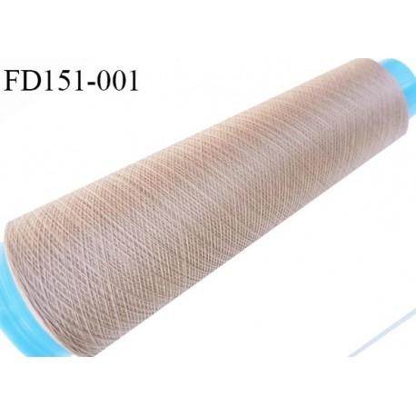 Destockage cone 3000 mètres de fil mousse polyester fil n°120 couleur chair peau longueur 3000 m