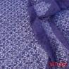 dentelle brodé  style powernet couleur violet très haut de gamme largeur 145 cm 140 grs au m2  prix pour 10 centimètres