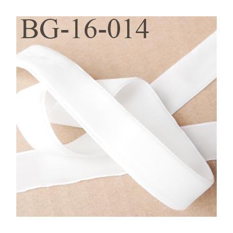 galon ruban  velours 16 mm fin très doux couleur écru  largeur 16 mm prix au mètre