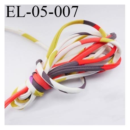 Cordon élastique 5 mm ou Cache Armature  underwire casing galon couleur multicolore lycra extensible diamètre 5 mm haut de gamme