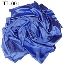Tissu lingerie ou bain couleur bleu satin très haut de gamme largeur 170 cm 170 grs au m2  prix pour 10 centimètres