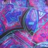 tissus synthétique  couleur multicouleur largeur 155 cm prix pour 10 centimètres de longueur et 155 centimètres de largeur