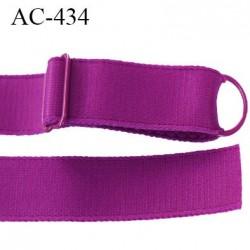 Bretelle 16 mm lingerie SG couleur pourpre brillant très haut de gamme finition avec 1 barettes + 1 anneau prix a la pièce