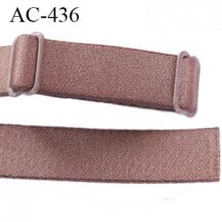 Bretelle 16 mm lingerie SG couleur cuivre laiton brillant haut gamme finition 2 barettes  prix a la pièce