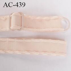 Bretelle 16 mm lingerie SG couleur  chair peau brillant haut de gamme finition avec 1 barettes + 1 anneau prix a la pièce