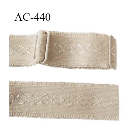 Bretelle 25 mm lingerie SG couleur beige avec motif  très haut de gamme  largeur 25 mm longueur 32 cm  prix à la pièce