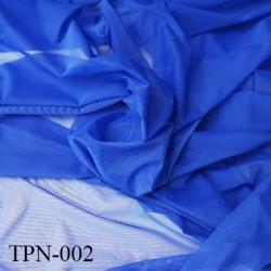 Powernet spécial lingerie extensible dans les deux sens couleur bleu haut de gamme largeur 155 cm prix pour 10 cm de longueur
