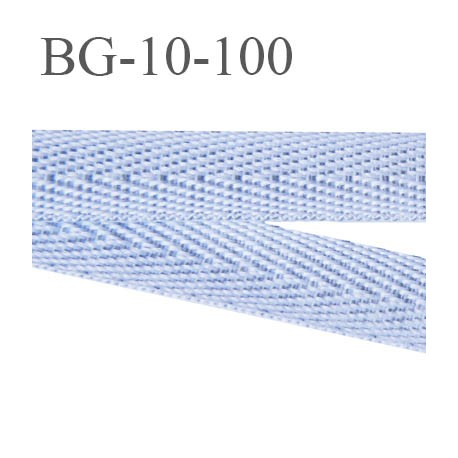 biais sergé galon 10 mm ruban polyester et coton couleur gris veiné  largeur 10 mm prix au mètre