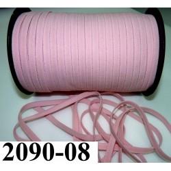 élastique plat largeur 8 mm couleur rose bonbon  prix pour 1 mètre de longueur