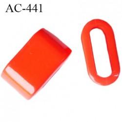 arret stop cordon 12 mm spécial lingerie en pvc couleur orange passage intérieur 9 mm par 3 mm prix a la pièce