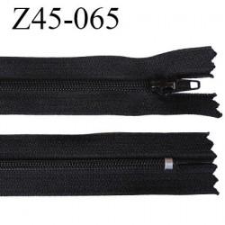 fermeture 45 cm zip   couleur noir non séparable largeur 2.5 cm largeur de la glissière 4 mm curseur métal