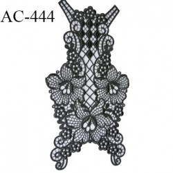 guipure 28 x 14 cm  écusson ornement dentelle crochet très haut de gamme couleur anthracite ou onyx pour lingerie et autre