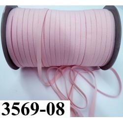 élastique plat largeur 8 mm couleur rose eden  prix pour 1 mètre de longueur