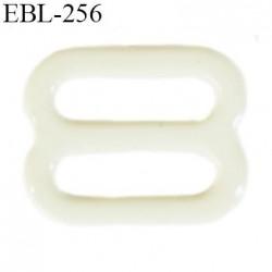 barrette réglette  8 mm de réglage de bretelle  soutien gorge en métal laqué écru brillant   largeur intérieur 8 mm