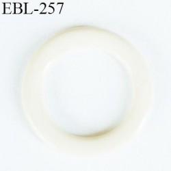 anneau métallique 8 mm plastifié écru brillant laqué pour soutien gorge diamètre intérieur 8 mm prix à l'unité haut de gamme
