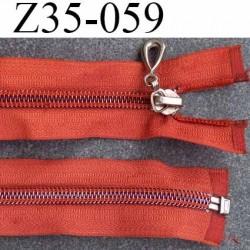 ( 2ém choix déstockage ) fermeture zip longueur 35 cm couleur orange séparable zip nylon largeur 3.3 cm largeur du zip 6 mm