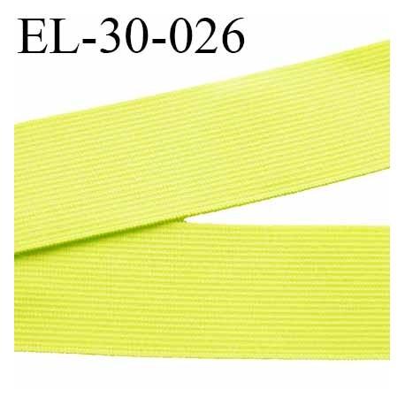 élastique 30 mm plat très belle qualité couleur anis largeur 30 mm prix au mètre