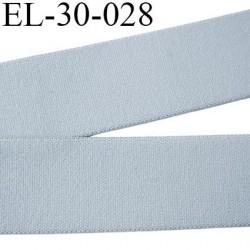 élastique 30 mm aspect velours spécial lingerie et sport très belle qualité couleur gris doux certifié oeko tex prix au mètre