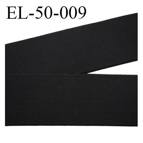 élastique 50 mm plat  belle qualité souple belle élasticité couleur noir largeur 50 mm souple  prix au mètre
