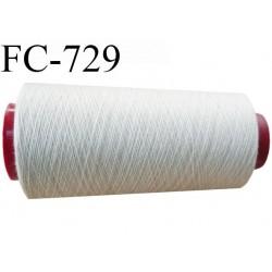 Cone  1000  m de fil polyester fil n°80 couleur mastic longueur du cone 1000 mètres bobiné en France