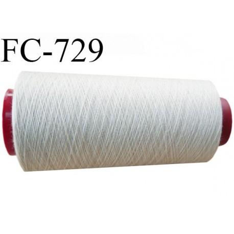 Cone  2000  m de fil polyester fil n°80 couleur mastic longueur du cone 2000 mètres bobiné en France