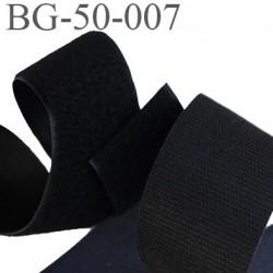 scratch velcro à coudre ou à coller noir largeur 50 mm les 2 faces au mètre