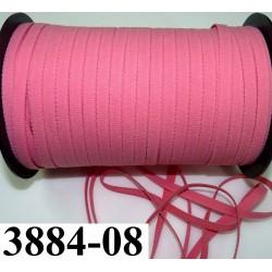 élastique plat largeur 8 mm couleur rose corail  prix pour 1 mètre de longueur