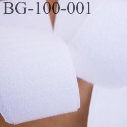 scratch style velcro 100 mm à coudre ou à coller blanc largeur 100 mm les 2 faces crochet et velours  prix au mètre