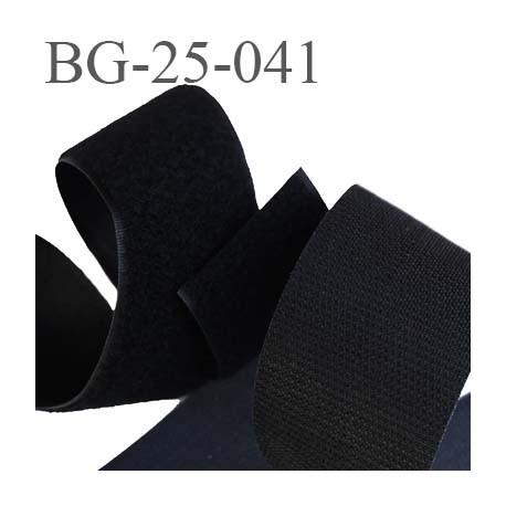 scratch style velcro 25 mm à coudre ou à coller noir largeur 25 mm les 2 faces crochet et velours  prix au mètre