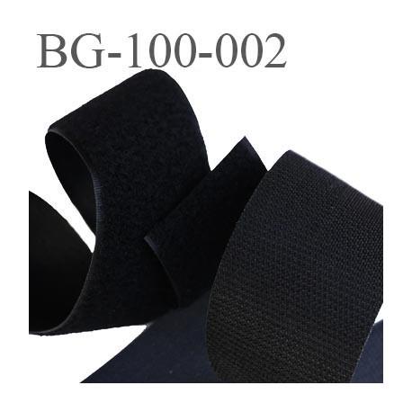 scratch style velcro 100 mm à coudre ou à coller noir largeur 100 mm les 2 faces crochet et velours  prix au mètre