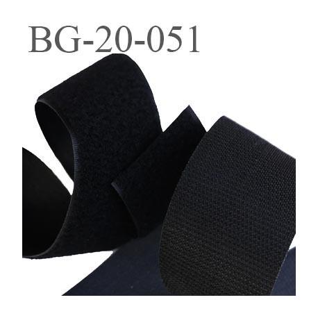 Scratch type velcro 20 mm à coudre couleur noir prix au mètre pour les 2 faces velours et crochet largeur 20 mm