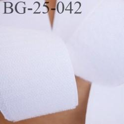 Scratch type velcro 25 mm à coudre couleur blanc prix au mètre pour les 2 faces velours et crochet largeur 25 mm