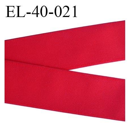 Elastique 40 mm plat très très belle qualité couleur rouge  forte élasticité très doux spécial sport caleçon prix au mètre