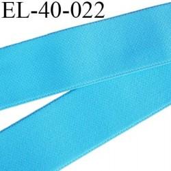Elastique 40 mm plat très très belle qualité couleur turquoise  forte élasticité très doux spécial sport caleçon prix au mètre