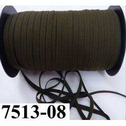 élastique plat largeur 8 mm couleur vert kaki  prix pour 1 mètre de longueur