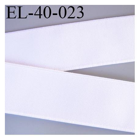 Elastique 40 mm plat très très belle qualité couleur blanc  forte élasticité très doux spécial sport caleçon prix au mètre
