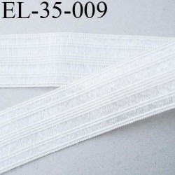 élastique 35 mm plat fronceur ou à smock couleur naturel et argenté brillant souple largeur 35 mm  prix au mètre