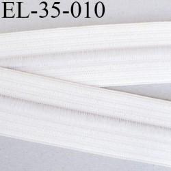élastique 38 mm plat fronceur ou à smock couleur naturel avec cordon intérieur noir largeur 38 mm  prix au mètre
