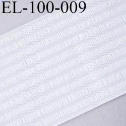 élastique technique 100 mm très belle qualité couleur naturel  rigide sur la largeur souple sur la longueur au mètre