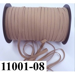 élastique plat largeur 8 mm couleur peau eminence beige foncé  prix pour 1 mètre de longueur
