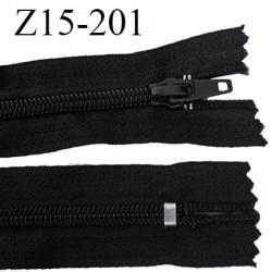 fermeture 15 cm zip  couleur noir non séparable largeur 3 cm  glissière spiralé nylon largeur 6.6 mm longueur 15 centimètres