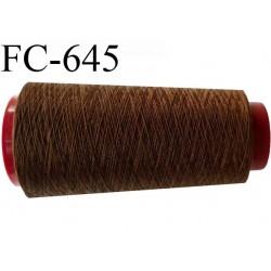 Cone de fil  1000 mètres  polyester fil n° 120 couleur marron longueur 1000 mètres bobiné en  France