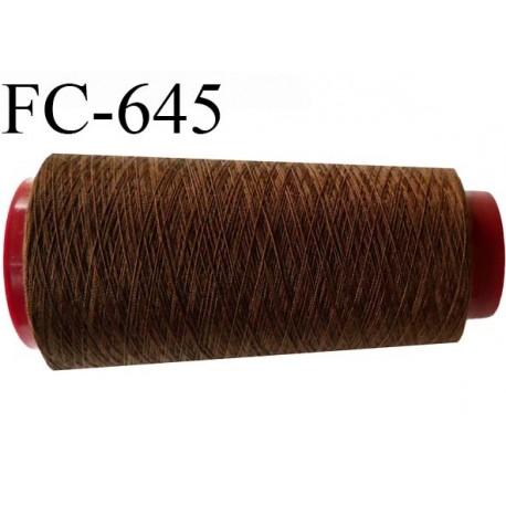 Cone de fil  2000 mètres  polyester fil n° 120 couleur marron longueur 2000 mètres bobiné en  France