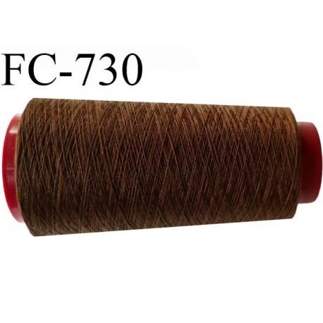 Cone de fil  1000 mètres  polyester fil n° 80 couleur marron longueur 1000 mètres bobiné en  France