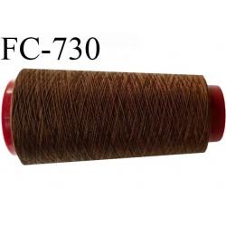 Cone de fil  5000 mètres  polyester fil n° 80 couleur marron longueur 5000 mètres bobiné en  France
