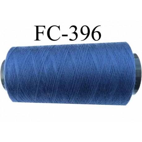 Cone de fil  2000 mètres  polyester fil n° 80 couleur bleu longueur 2000 mètres bobiné en  France