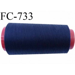 Cone de  fil  1000 m polyester fil n° 50 couleur bleu marine longueur 1000 mètres bobiné en  France