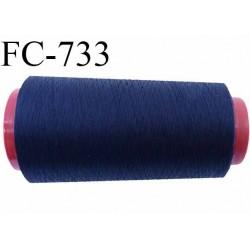 Cone de  fil 2000 m polyester fil n° 50 couleur bleu marine longueur 2000 mètres bobiné en  France