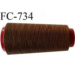 Cone de  fil 2000 m polyester fil n° 50 couleur marron clair longueur 2000 mètres bobiné en  France