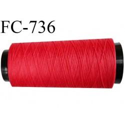 Cone 2000 mètres de fil mousse n°90 polyamide fil super qualité couleur rouge longueur 2000 m  bobiné en France